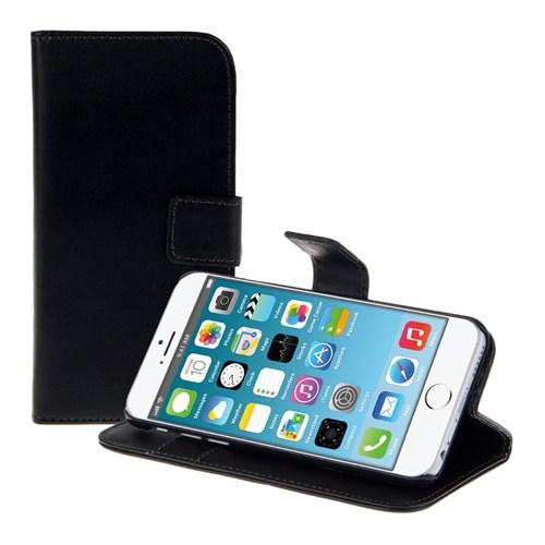 Microsonic Cüzdanlı Standlı Deri İphone 6 Plus (5.5'') Siyah