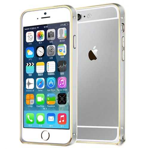 Microsonic İphone 6 Plus (5.5'') Ultra Thin Metal Bumper Kılıf Silver & Gold