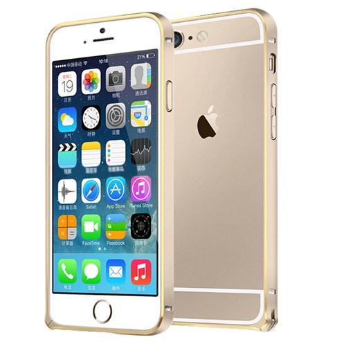 Microsonic İphone 6 Plus (5.5'') Ultra Thin Metal Bumper Kılıf Gold & Gold