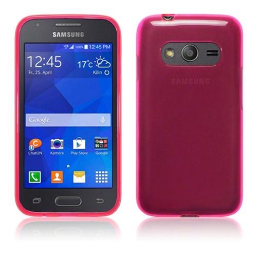 Microsonic Transparent Soft Samsung Galaxy Ace 4 Kılıf Pembe