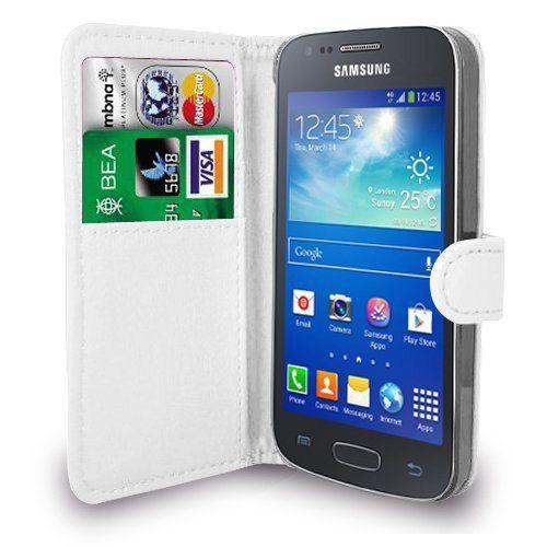 Microsonic Cüzdanlı Deri Samsung Galaxy Ace 4 Kılıf Beyaz