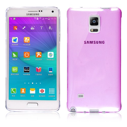 Microsonic Transparent Soft Samsung Galaxy Note 4 Kılıf Pembe