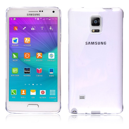 Microsonic Transparent Soft Samsung Galaxy Note 4 Kılıf Beyaz