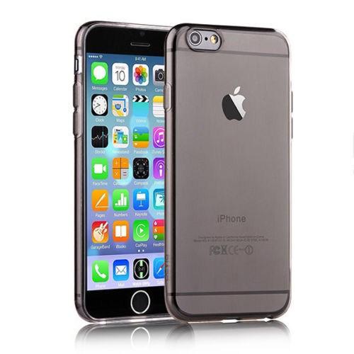 Microsonic Slim Transparent Soft İphone 6 Plus (5.5'') Kılıf Siyah
