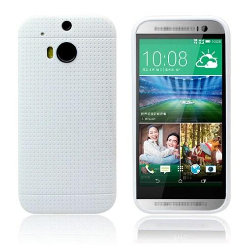 Microsonic Dot Style Silikon Htc One M8 Kılıf Beyaz