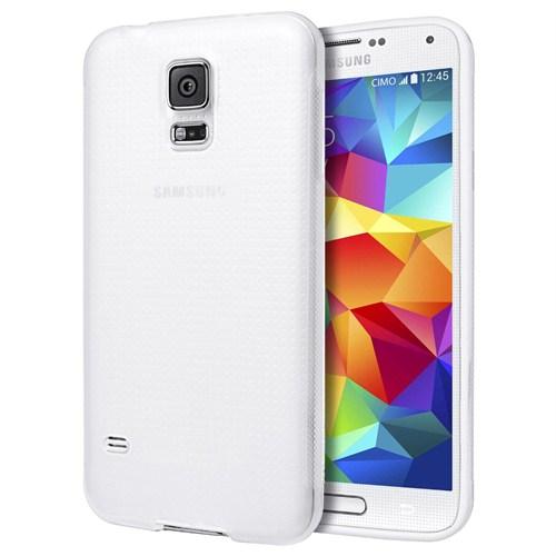 Microsonic Dot Style Silikon Samsung Galaxy S5 Kılıf Beyaz