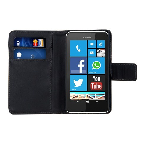 Microsonic Cüzdanlı Deri Nokia Lumia 530 Kılıf Siyah