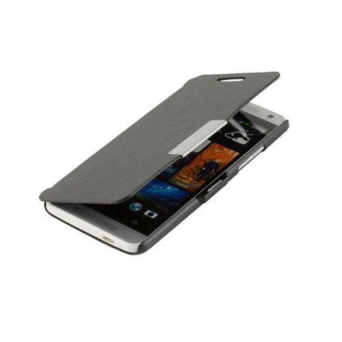 Microsonic Mıknatıslı Ultra Thin Kapaklı Htc One Mini M4 Kılıf Siyah