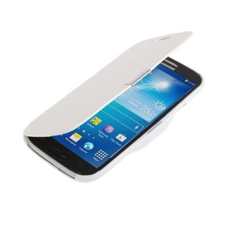 Microsonic Mıknatıslı Ultra Thin Kapaklı Samsung Galaxy S4 Mini Kılıf Beyaz
