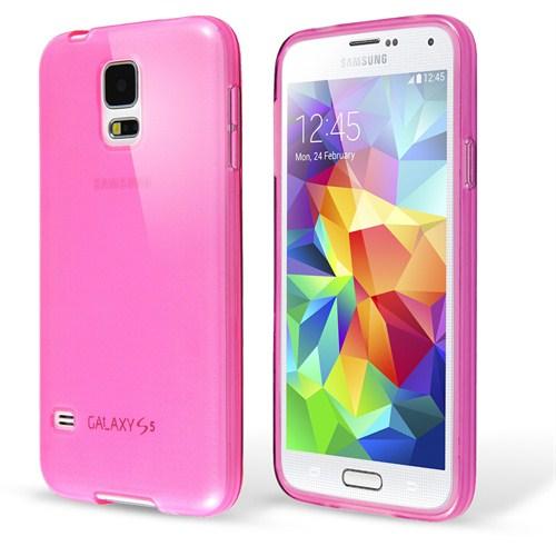 Microsonic Transparent Soft Samsung Galaxy S5 Mini Kılıf Pembe