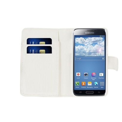 Microsonic Cüzdanlı Deri Samsung Galaxy S5 Mini Kılıf Beyaz