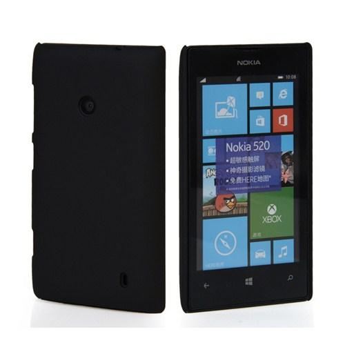 Microsonic Rubber Nokia Lumia 525 Kılıf Siyah