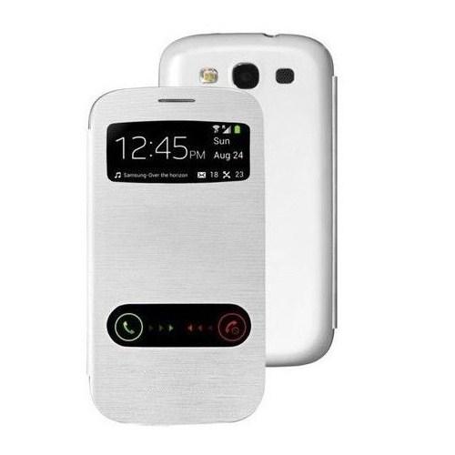 Microsonic View Cover Delux Kapaklı Samsung Galaxy Grand Neo İ9060 Kılıf Beyaz