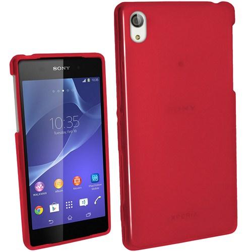 Microsonic Glossy Soft Sony Xperia Z2 Kılıf Kırmızı