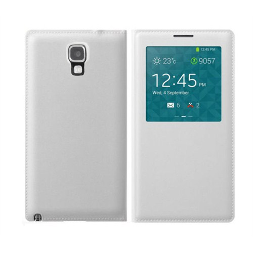 Microsonic View Cover Delux Kapaklı Kılıf Samsung Galaxy Note 3 Neo Akıllı Modlu Beyaz