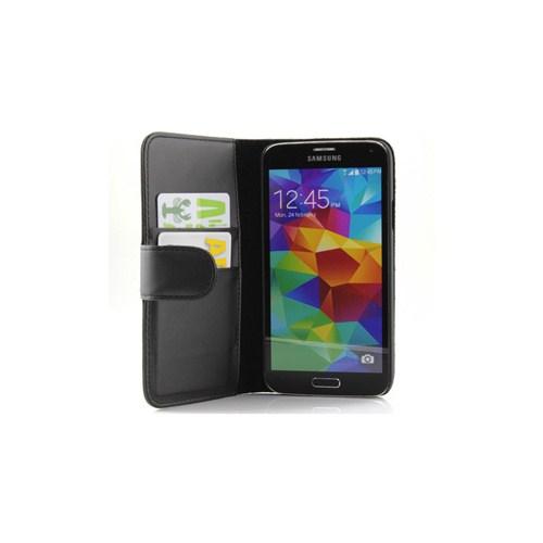 Microsonic Cüzdanlı Deri Kılıf - Samsung Galaxy S5 Siyah