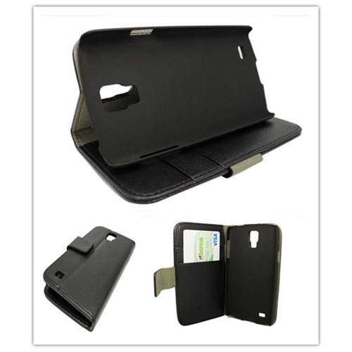 Microsonic Cüzdanlı Standlı Deri Kılıf - Samsung Galaxy S4 Active Siyah