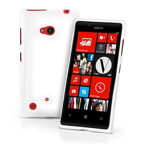 Microsonic Glossy Soft Kılıf Nokia Lumia 720 Beyaz