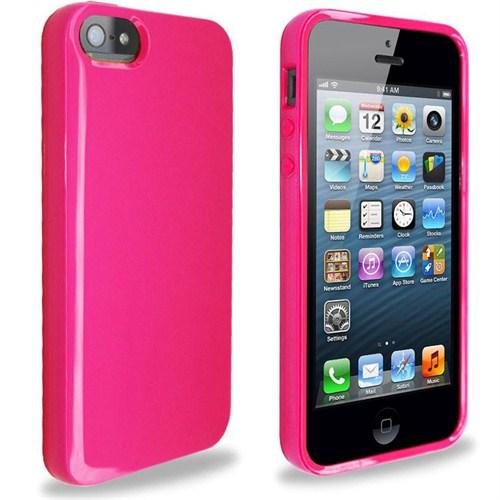 Microsonic Glossy Soft Kılıf İphone 5S Pembe