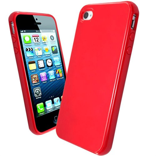 Microsonic Glossy Soft Kılıf İphone 4S Kırmızı