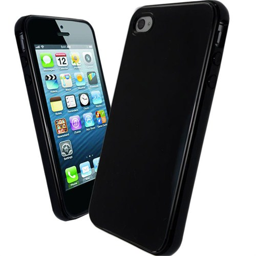 Microsonic Glossy Sof Kılıf İphone 4S Siyah