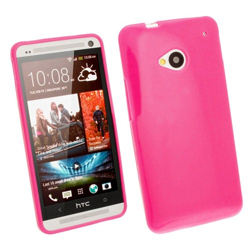 Microsonic Glossy Soft Kılıf Htc One M7 Pembe