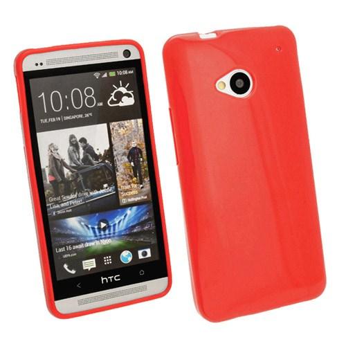 Microsonic Glossy Soft Kılıf Htc One M7 Kırmızı