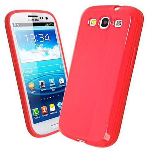 Microsonic Glossy Soft Kılıf Samsung Galaxy S3 İ9300 Kırmızı