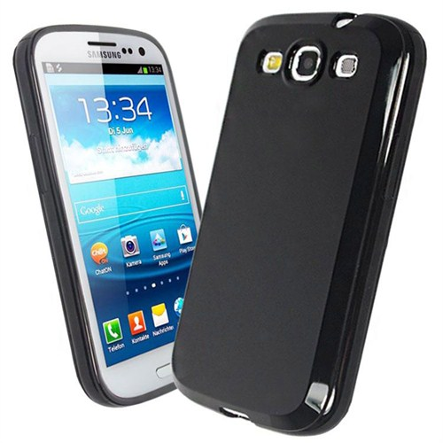 Microsonic Glossy Soft Kılıf Samsung Galaxy S3 İ9300 Siyah