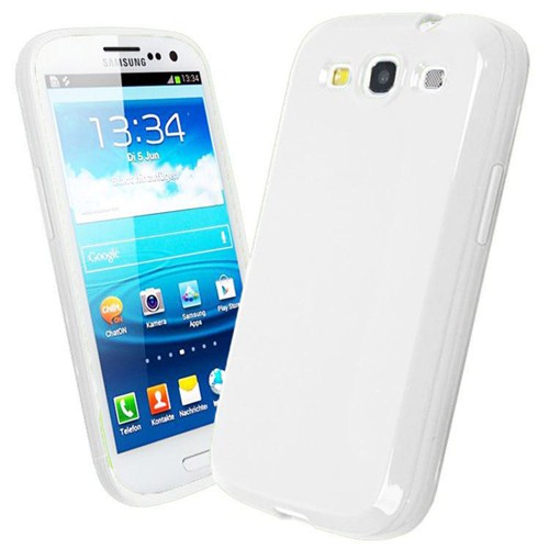Microsonic Glossy Soft Kılıf Samsung Galaxy S3 İ9300 Beyaz