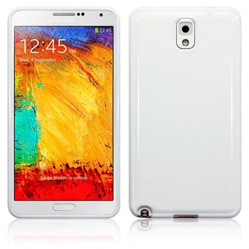 Microsonic Glossy Soft Kılıf Samsung Galaxy Note 3 N9000 Beyaz