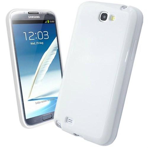 Microsonic Glossy Soft Kılıf Samsung Galaxy Note 2 N7100 Beyaz