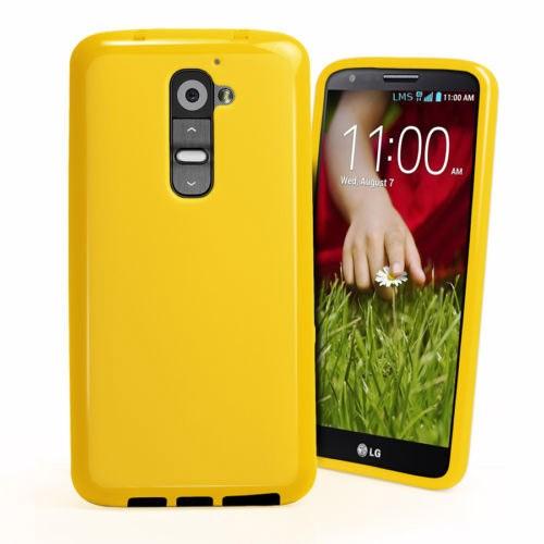 Microsonic Glossy Soft Kılıf Lg G2 Sarı