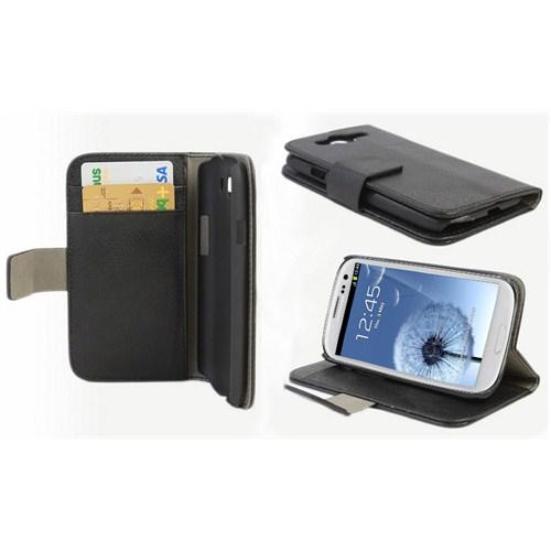 Microsonic Cüzdanlı Standlı Deri Kılıf - Samsung Galaxy S3 İ9300 Siyah