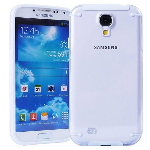 Microsonic Hybrid Transparant Kılıf - Samsung Galaxy S4 İ9500 Beyaz