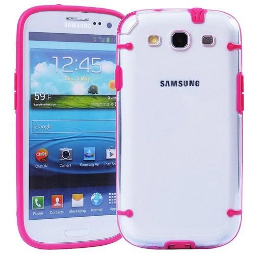 Microsonic Hybrid Transparant Kılıf - Samsung Galaxy S3 İ9300 Pembe