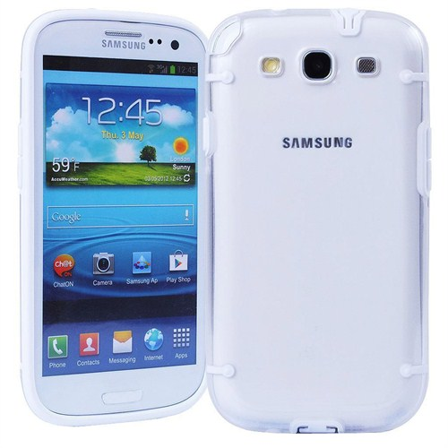 Microsonic Hybrid Transparant Kılıf - Samsung Galaxy S3 İ9300 Beyaz