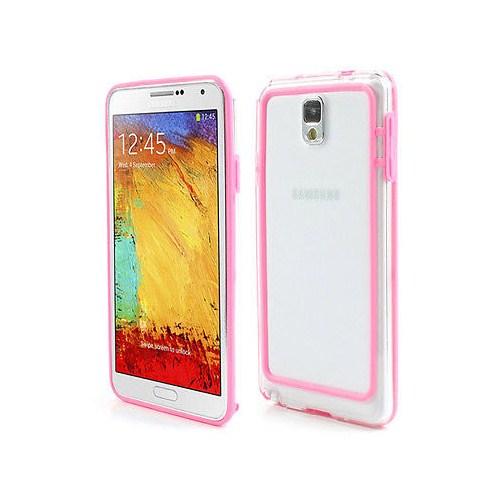 Microsonic Hybrid Tranparant Kılıf - Samsung Galaxy Note 3 N9000 Pembe