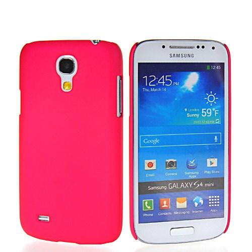 Microsonic Rubber Kılıf Samsung Galaxy S4 Mini İ9190 Pembe