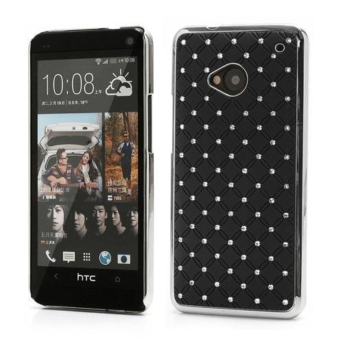 Microsonic Bling Luxury Case Kılıf Htc One M7 Siyah