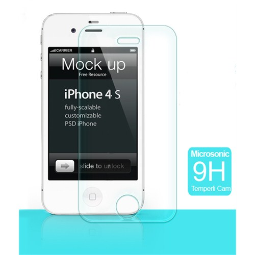 Microsonic Temperli Cam Ekran Koruyucu - İphone 4S
