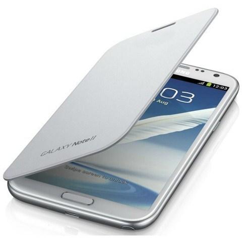 Microsonic Delux Kapaklı Kılıf Samsung Galaxy Note 2 N7100 Beyaz