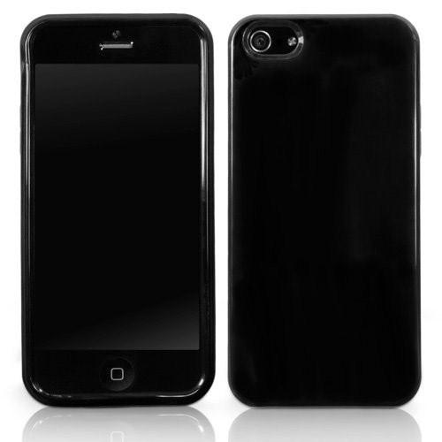Microsonic İphone 5 Glossy Soft Kılıf Siyah
