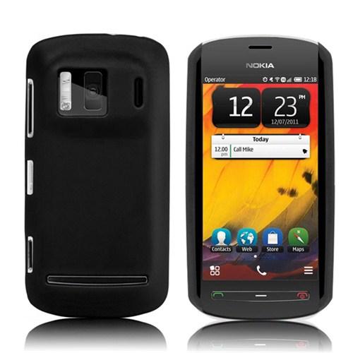 Microsonic Rubber Case Kılıf - Nokia 808 Siyah