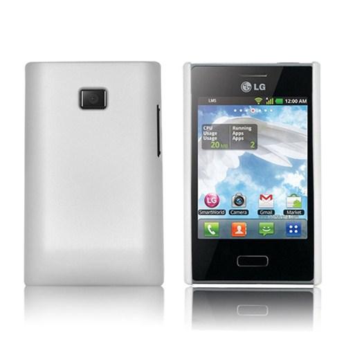 Microsonic Rubber Case Kılıf - Lg Optimus L3 E400 Beyaz