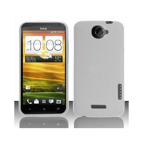 Microsonic Rubber Hard Case Kılıf- Htc One X Beyaz
