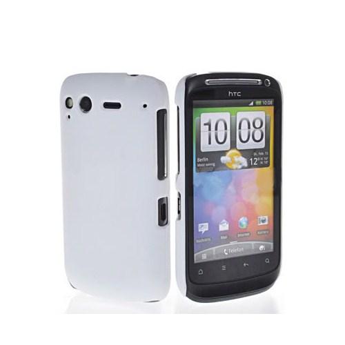 Microsonic Htc Desire S Rubber Hard Case Beyaz Kılıf