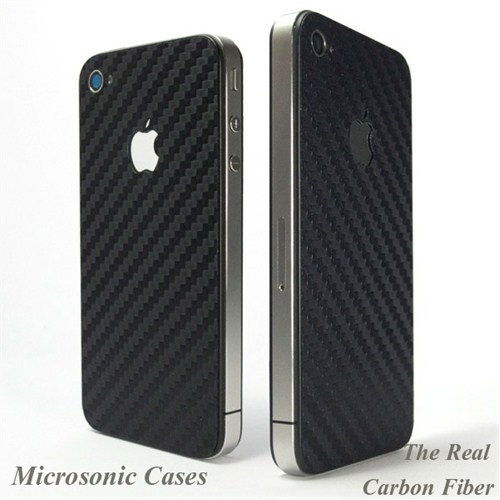 Microsonic Apple İphone 4 Carbon Fiber Sticker Kılıf