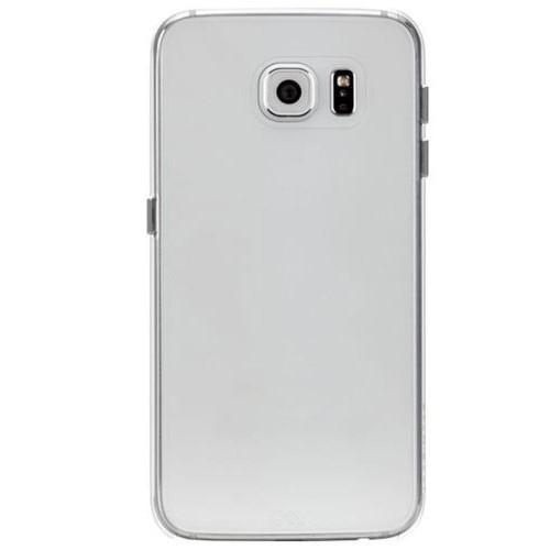 Mycolors Samsung Galaxy S6 Edge Siyah İnce Silikon Arka Kapak - MYC-0185