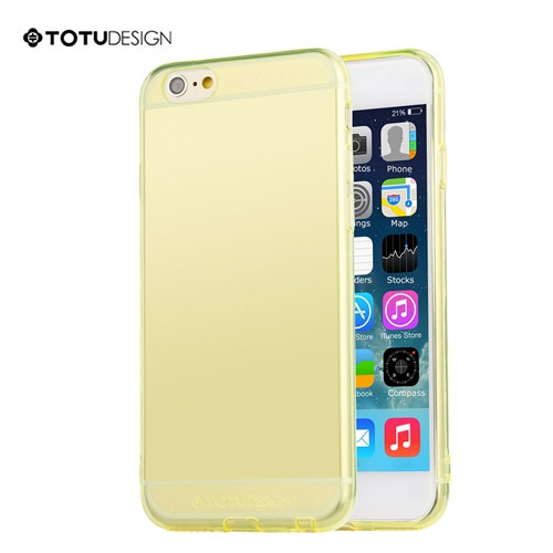 Totu Design Apple iPhone 6 Plus Soft Sarı Kılıf